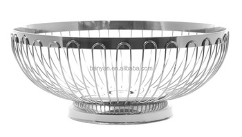 stainless steel wire fruit basket with net cover with different size