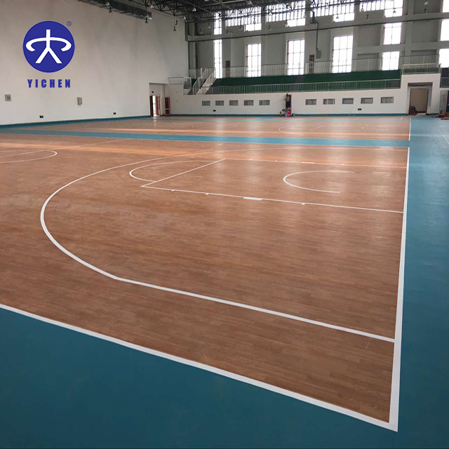 indoor futsal/voetbal/badmintonbadminton rechter/basketbal/table tennis pvc sport vloer