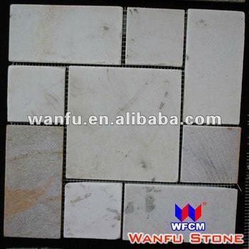 Weiße Farben Stein Innenwand Fliesen