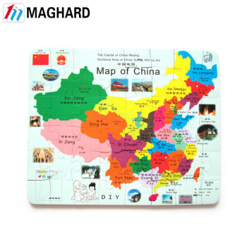 Hot Selling Kids China Map Magnetic Jigsaw Puzzle Games - Buy Jigsaw on