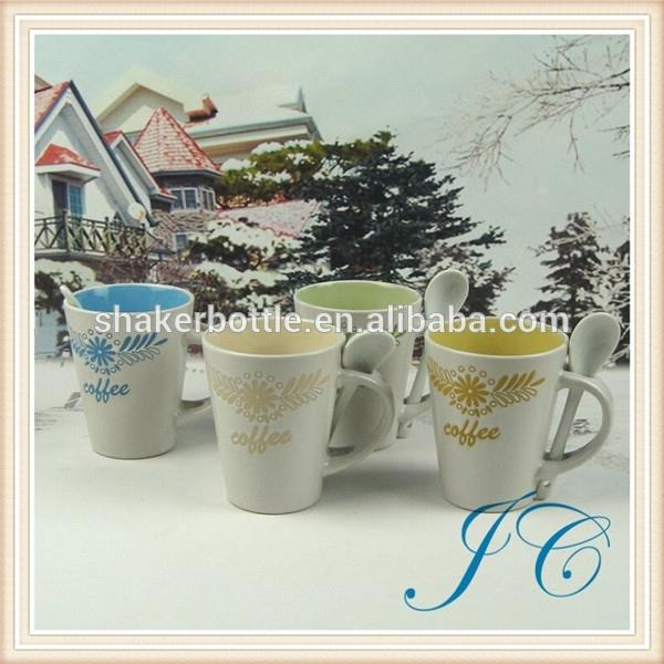 Wholesale 2015 New Fashion Product 12 oz Cheap Solid Color Glazed Ceramic Mug