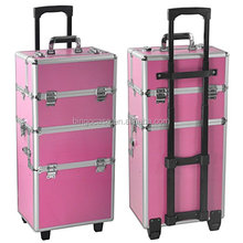 Rolling Aluminium Beauty Trolley Bag Vanity Case Make Up <span class=keywords><strong>Cosmetische</strong></span> Organizer Box