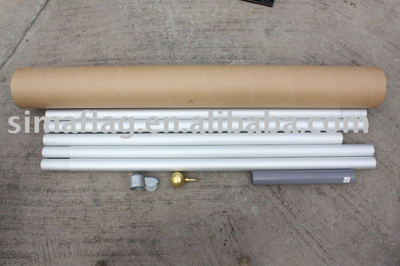 7.6m heavy Aluminum flagpole kit