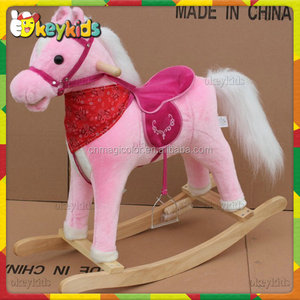 2016 wholesale baby wooden horse riding toy,cheap kids wooden horse riding toy,fashion children wooden horse riding toy W16D067