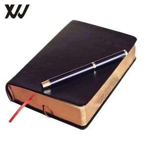 bible journal PU leather thick notebook vintage notebook with blank pages