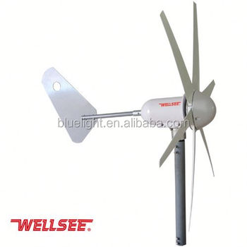china manufacture micro turbine generator 300w 400w optional horizontal wind generator for home use WS-WT300