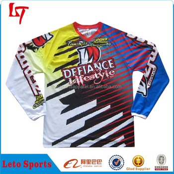 Cool Design Auto Racing Full Dye Sublimation Printing Long Sleeve T ...