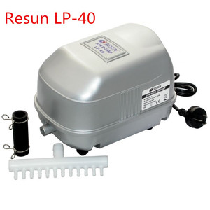 35W 50L/min RESUN LP-40 Low Noise Pond Air Compressor for Koi Fish Septic Tank Hydroponic Oxygen Air Aerator Aquarium Air Pump