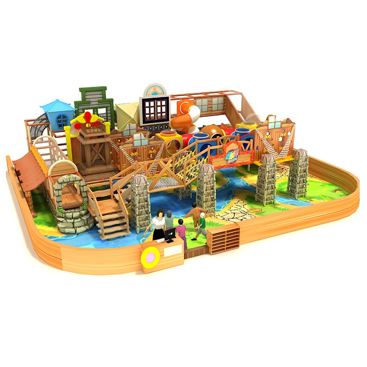 Toddlers indoor playground construction play set
