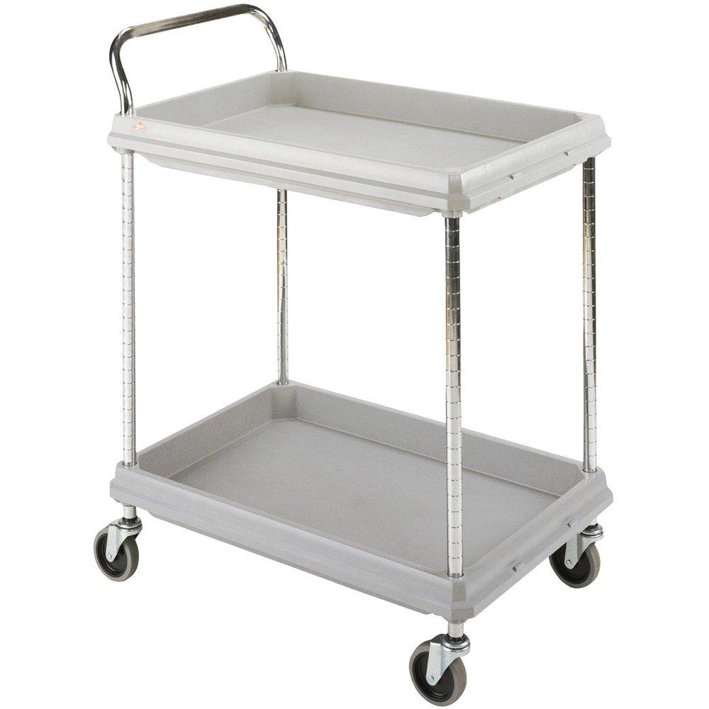 "Metro Deep-Ledge Utility Carts - 32""Wx21-1/2""D Shelf - Light Gray - Light Gray"