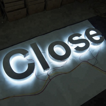 Led Letter Sign Acrylic Stainless Steel Backlit 3d Sign Letters For  Advertising - Buy 3d Stainless Steel Letter Sign,Led Letter Sign,Led  Backlit Sign