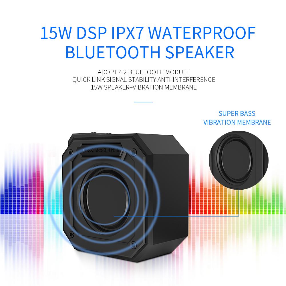 High quality small custom OEM magnetic TWS DSP wireless portable speaker