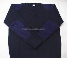 military office V-neck man knitted sweater