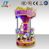 Purple color mechanical Carousel cheap coin operated car child horse ride for kids