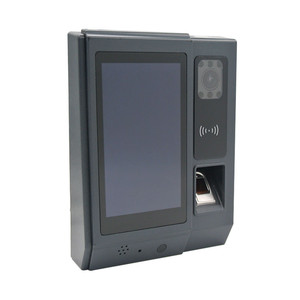 HF A5 5inch Android OS wifi biometric facial and fingerprint time attendance with bult-in Li-battery