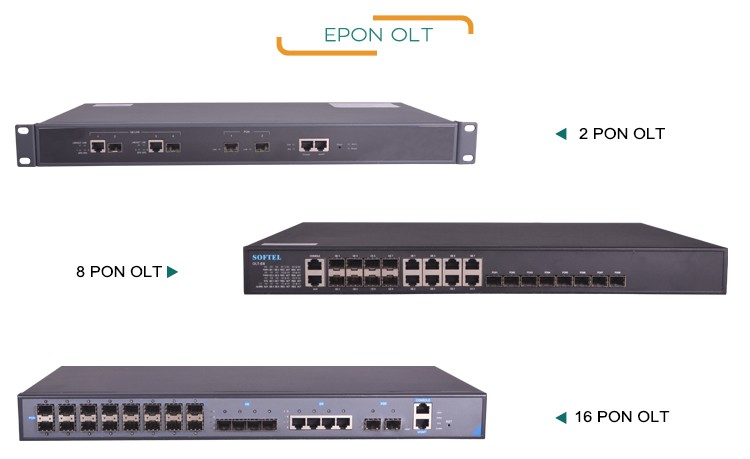Softel China Price 8PON Port FTTH Epon OLT OLT 1U