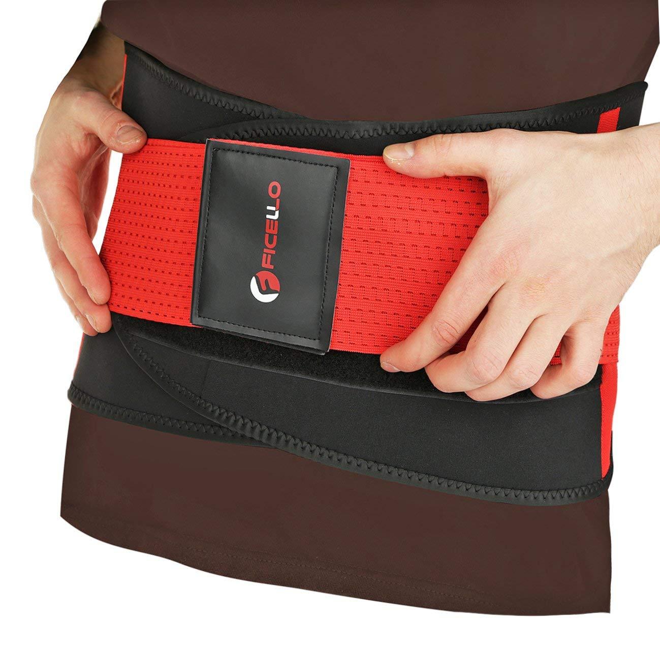 464c5f78790 Get Quotations · FICELLO Waist Wrap – Weight Loss Trimmer Belt for Men and  Women – Lightweight Neoprene Fabric