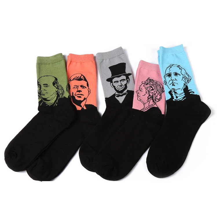 Winter Casual Art Socks Men Women Cotton Crew 3D Print Funny Socks Harajuku Novelty Sox Happy Socks
