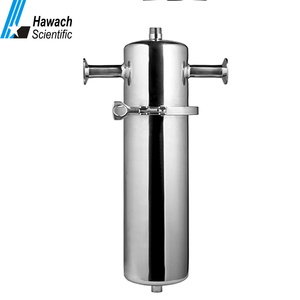 Stainless steel compressed gas air filter housing sterile membrane cartridge filter