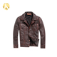 Soft Fabric Quality Designs Genuine Leather Jacket Men