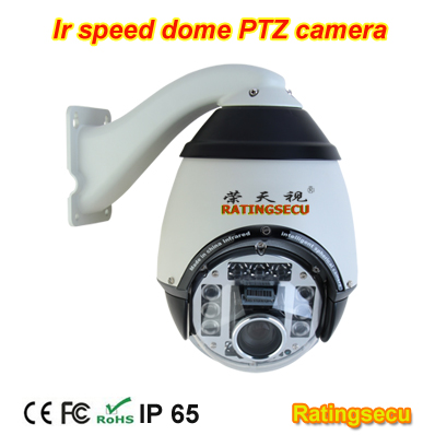 Manufacturer 120~155 Meters IR distance AUTO tracking PTZ High speed dome camera
