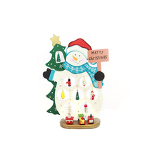 FQ brand christmas wooden santa claus and snowman ornaments for desktop decoration