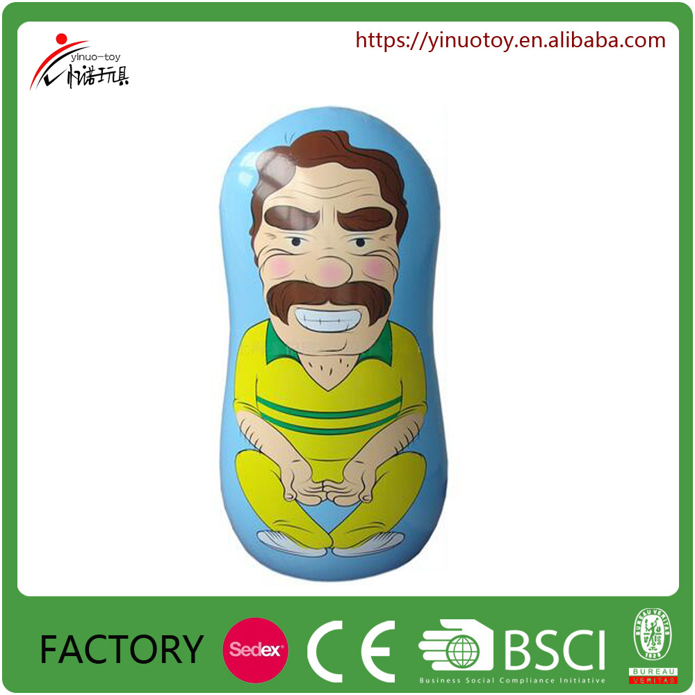 Eco-friendly pvc material popular inflatable kids tumbler toys