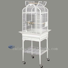 White small iron opentop parrot cages for breeding bird