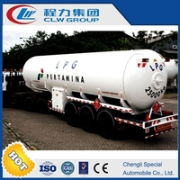 different size for customized 3 axles lpg tank trailer