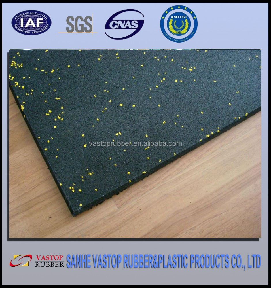 Crossfit /Gym Recycled Rubber Granules Tile Price