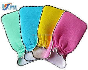 Glove Manufacturer Supply Terry Cloth Sponge Cleaning Body Exfoliating Mitt Bath Brushes Scrubbers Disposable Gloves