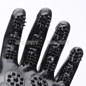 Black Color Pet Hair Remover Cat Dog Grooming Gloves Pet supply