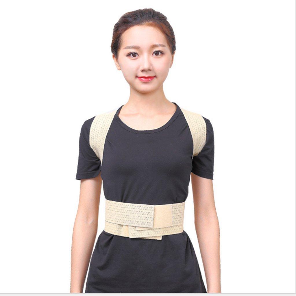 MagiDeal Women Men Teenagers Adult Upper Back Waist Lumbar Shoulder Posture Corrector Belt Corrective Brace Support Correction Strap for Slouching Hunchback Back Pain Relief - L