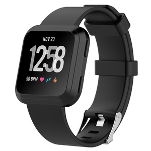 2018 for fitbit versa rubber bands sports style replacement strap soft silicone wristband watch band