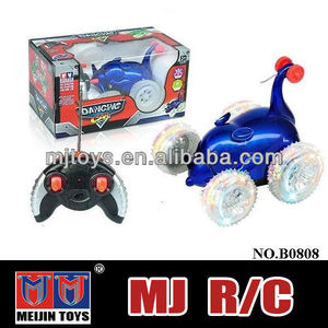 new design 4 channel musical flash rc stunt toy car 360