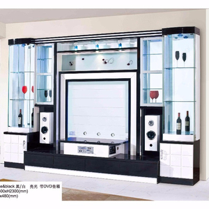 Malaysia mdf wall mounting lcd design corner tv showcase black tv cabinet for living room