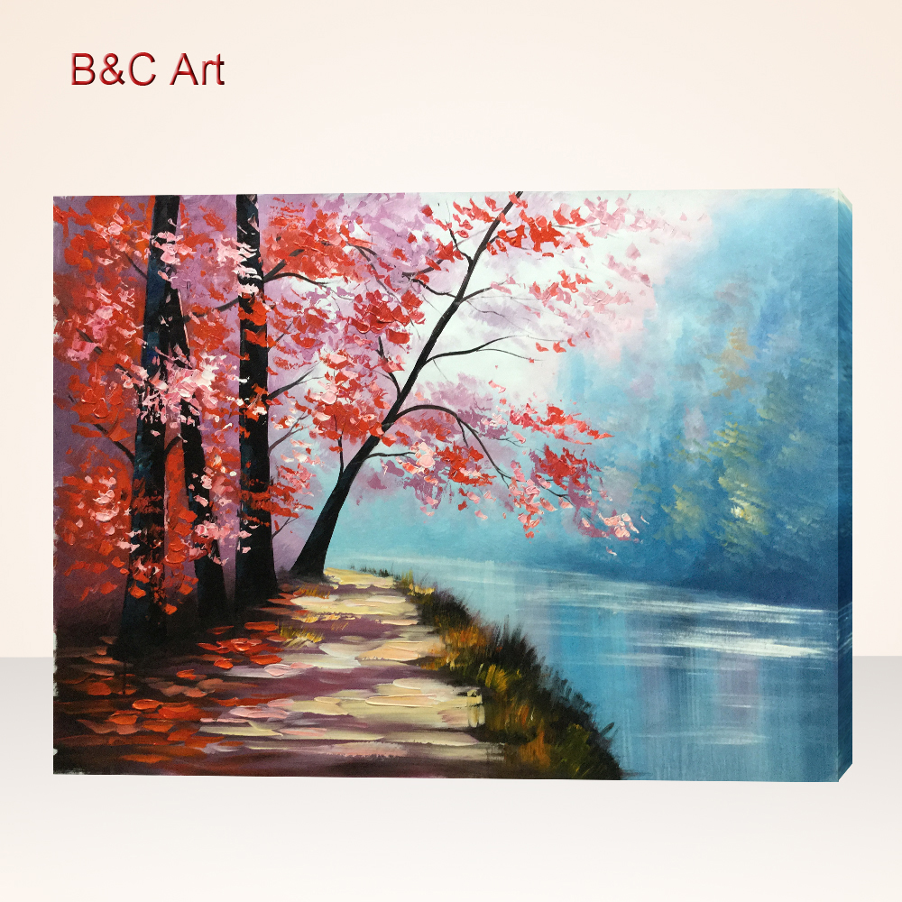 Secluded Riverside Path Outdoor Wall Art with Professional Supply