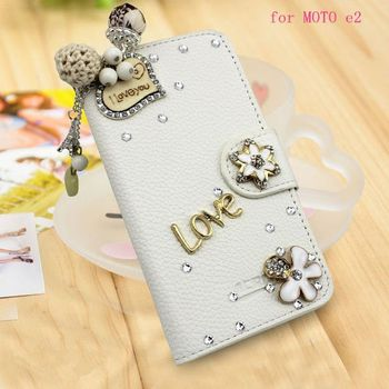 new arrival 08fb8 98016 Diy Shiny Crystal Diamond Wallet Leather Back Cover For Motorola Moto E2  For Moto E2 Protective Case - Buy Cover For Motorola Moto E2,Back Cover For  ...