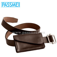 leather custom belt and wallet set Christmas promotional gift items for men