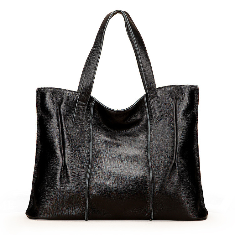 2d551b1dc9 Get Quotations · Women cowhide shoulder hand bags genuine leather ladies  big casual tote real leather designer handbags high