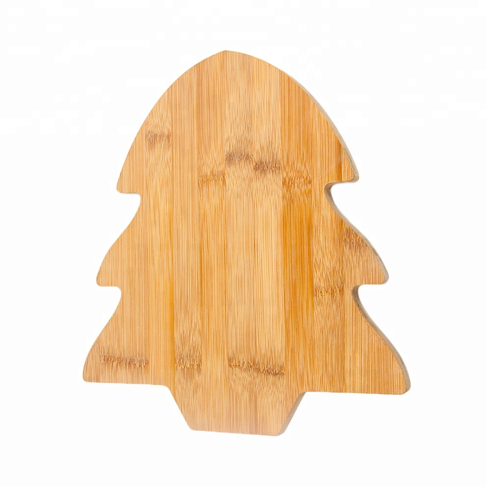 christmas tree shape bamboo cheese cutting board wholesale