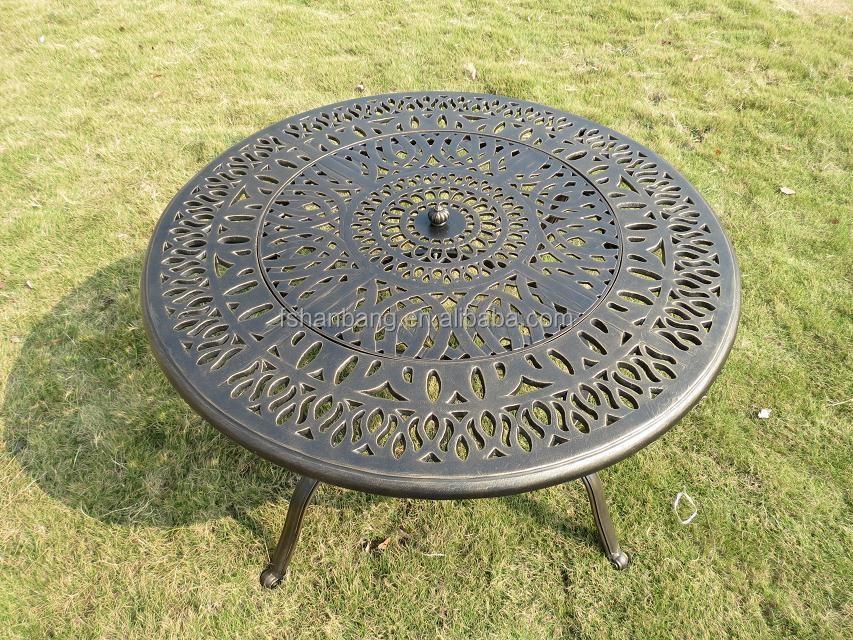 Bronce redondo patio al aire libre muebles de jardín de aluminio ...