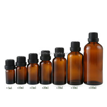 JX Pack amber small glass vial 15 ml 30ml green Glass Essential Oil Bottle with Dropper Cap