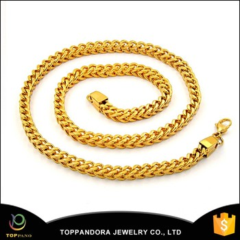 Wholesale Fashion Dubai Gold Jewelry Men Neck Chain Gold Necklace