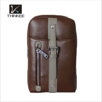 8909bcdaf55 Wholesale Drop Shipping Vintage 100% Genuine Leather Cowhide Men Chest Bag  Small Shoulder Cross Body