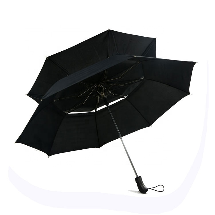 High Quality Double Canopy Windproof 2 Fold Umbrella For Mens Umbrella