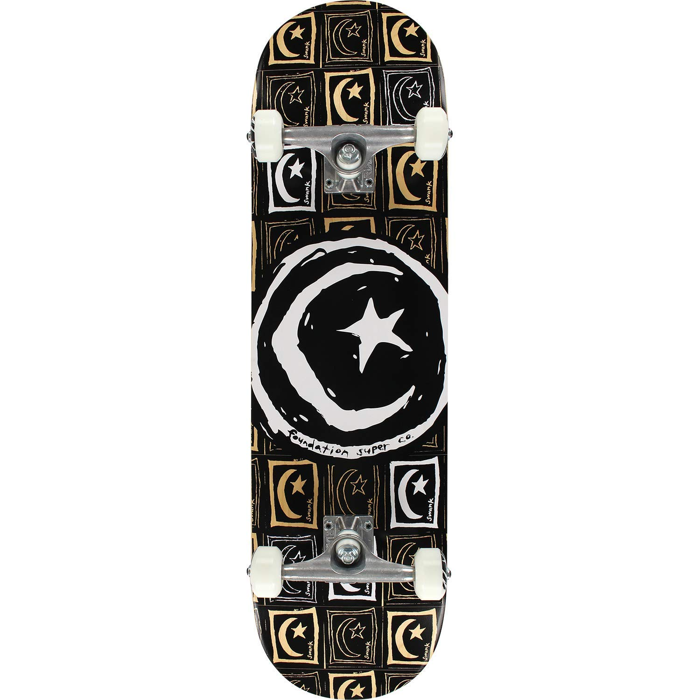 "Foundation Skateboards Star & Moon So Repeat Complete Skateboard - 8.5"" x 32"""