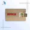 High Quality custom wooden credit card usb flash drive