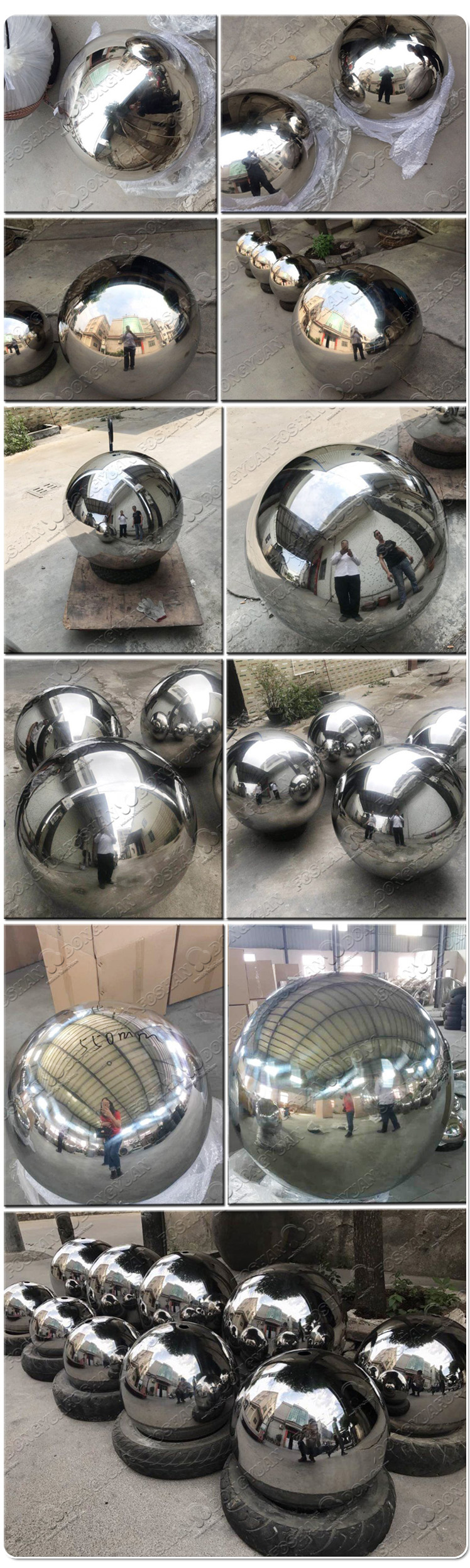 500mm Stainless Steel Ball/Sphere Garden Decoration with Hole and Stand