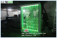LED litghted acrylic shelf divider with water bubble panel /wall design
